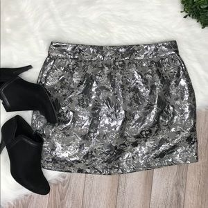 Tinley Road Silver Grey lined Mini Skirt